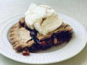 Homemade Ice Cream with Cherry Pie