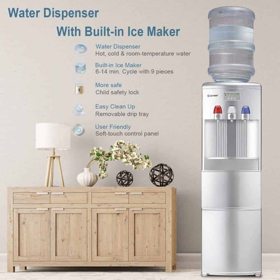 Costway 2-in-1 Water Cooler Dispenser with Built-in Ice Maker is a great unit for your home.