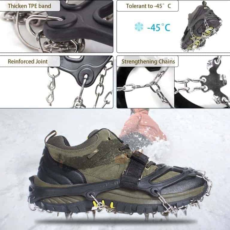 Unigear Traction Cleats are great for ice fishing