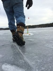 Walking on the Ice with Ice Cleats