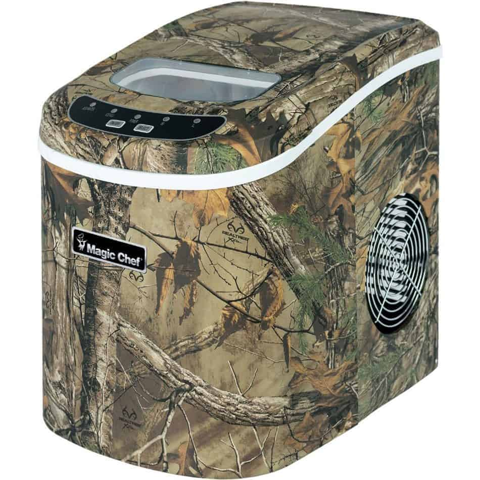The Magic Chef MCIM22RT Camouflage Portable Ice Maker