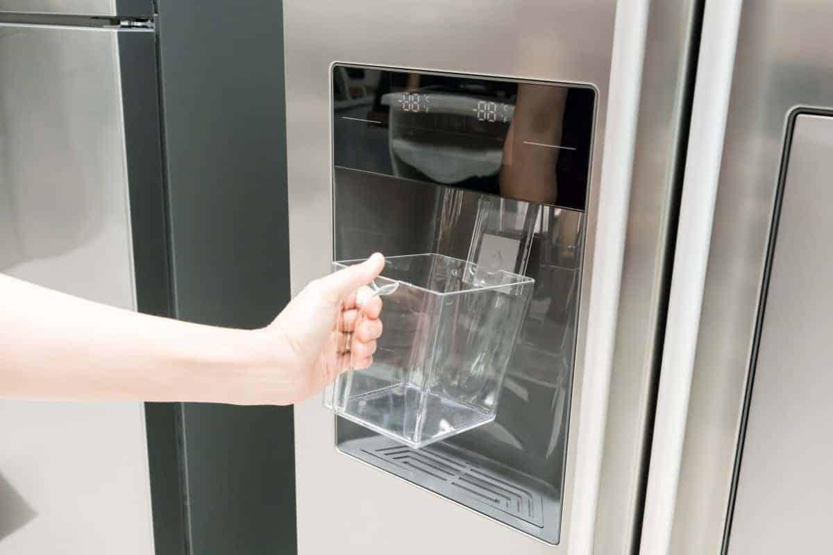 Using a fridge ice maker
