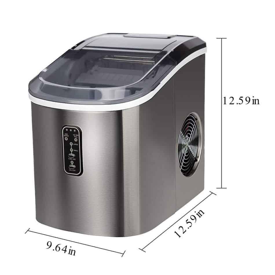Euhomy Ice Maker Machine Size