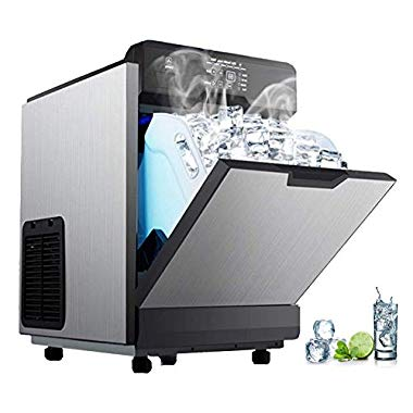 The VBENLEM 2 in 1 Commercial Ice Maker with Water Dispenser