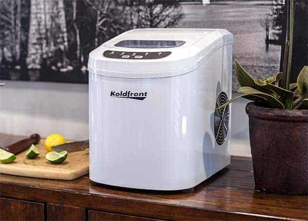 A portable ice maker on your countertop