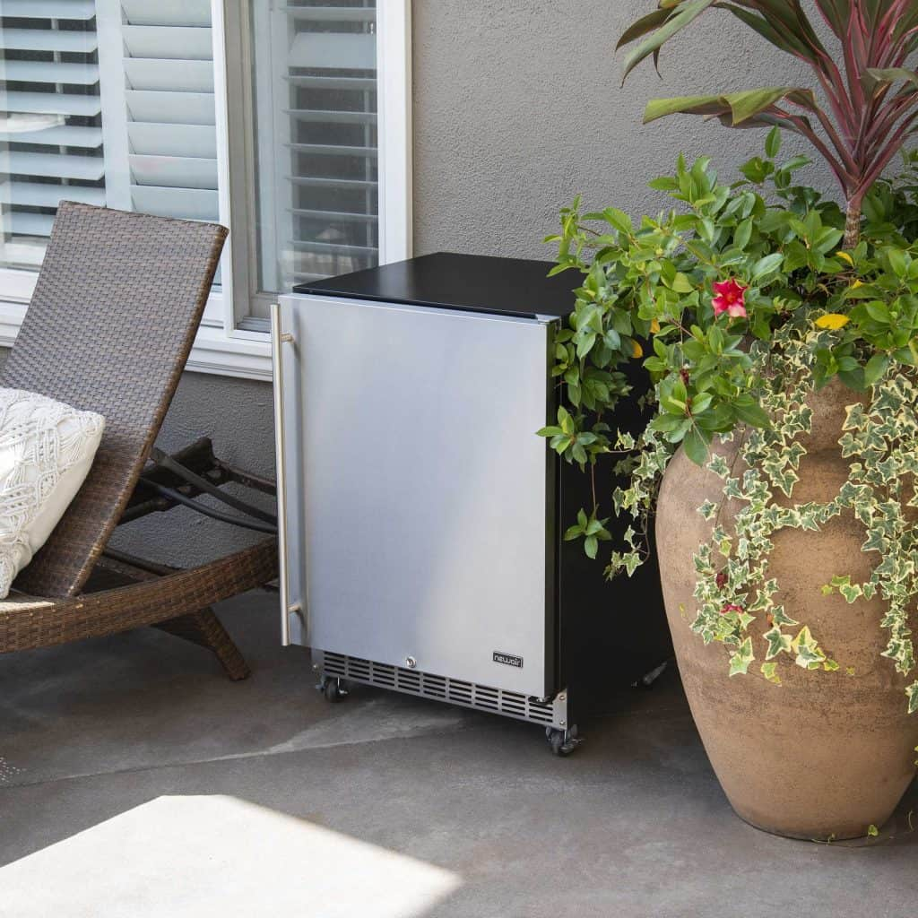 """NewAir 24"""" Outdoor Beverage Fridge is perfect beside your BBQ or patio"""