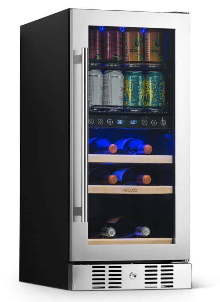 """NewAir 15"""" Premium Built-in Dual-Zone 9 Bottle and 48 Can Wine and Beverage Fridge Review"""