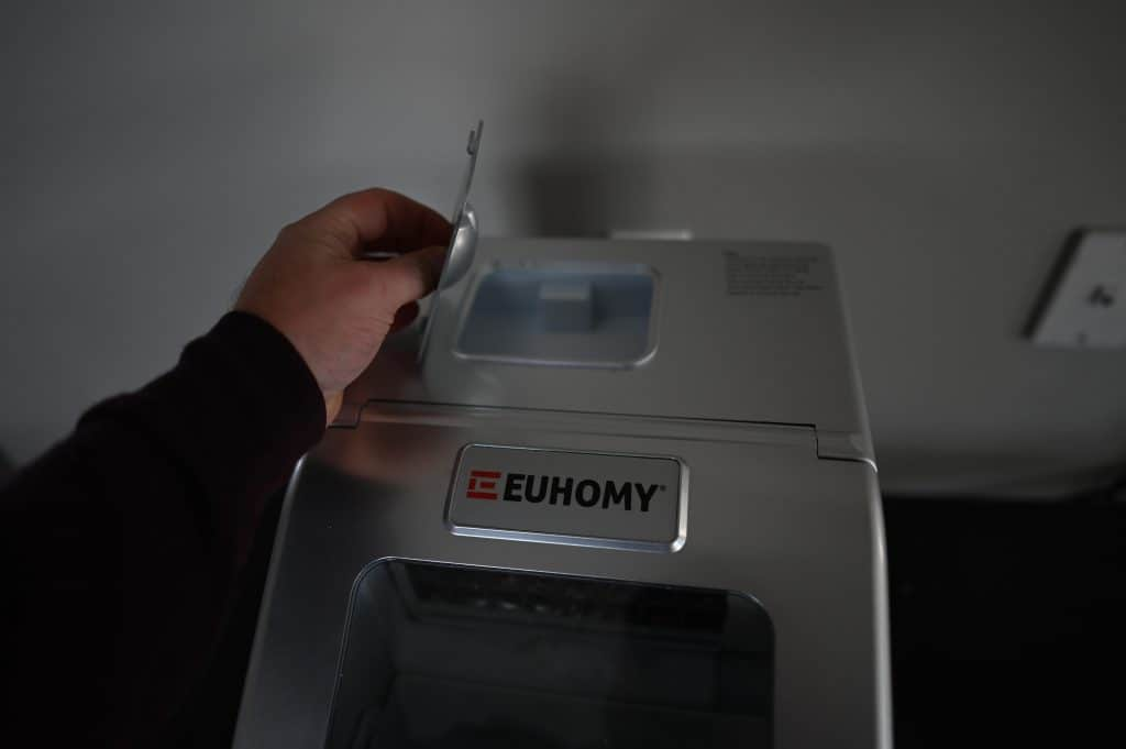 Euhomy Countertop Clear Ice Maker Water Reservoir