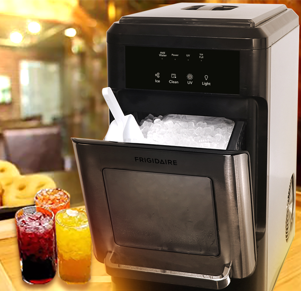 FRIGIDAIRE EFIC235-AMZ Countertop Crunchy Chewable Nugget Ice Maker Full Review